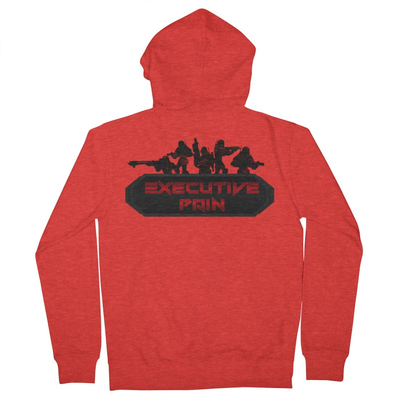 Executive Pain Logo (Gamer Girls) Men's Zip-Up Hoody by The Book Muse's Shop