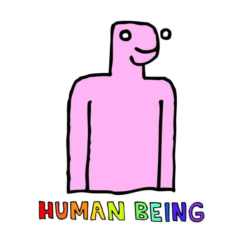 Human Being (Pink) by TheBoyWhoSeesYellow
