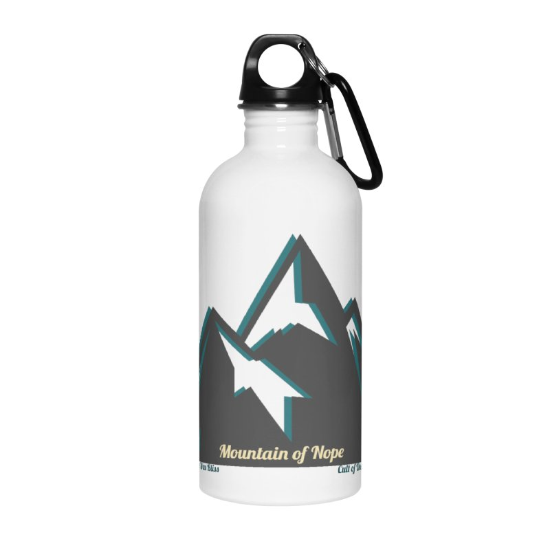 Mountain of Nope Accessories Water Bottle by The Cult of Domesticity Podcast