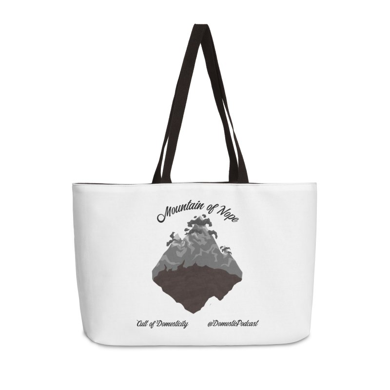 Mountain of Nope Accessories Weekender Bag Bag by The Cult of Domesticity Podcast