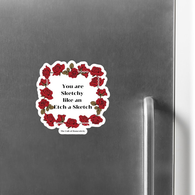 Etch-A-Sketch Accessories Magnet by The Cult of Domesticity Podcast