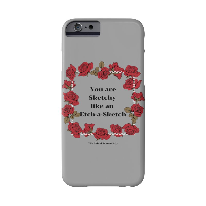 Etch-A-Sketch Accessories Phone Case by The Cult of Domesticity Podcast
