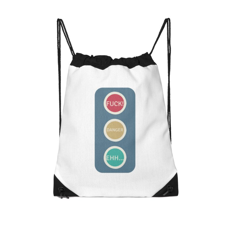Stoplight Accessories Drawstring Bag Bag by The Cult of Domesticity Podcast