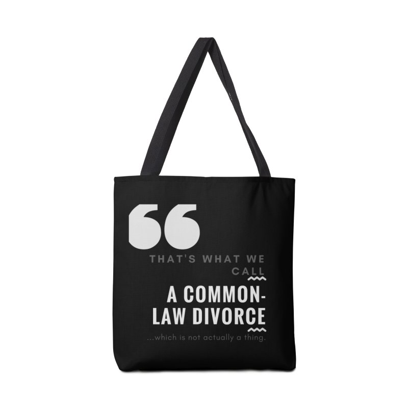 Common Law Divorce Accessories Tote Bag Bag by The Cult of Domesticity Podcast