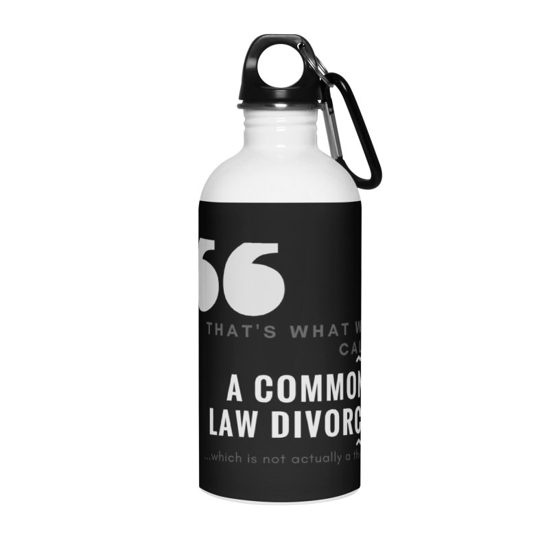 Common Law Divorce Accessories Water Bottle by The Cult of Domesticity Podcast
