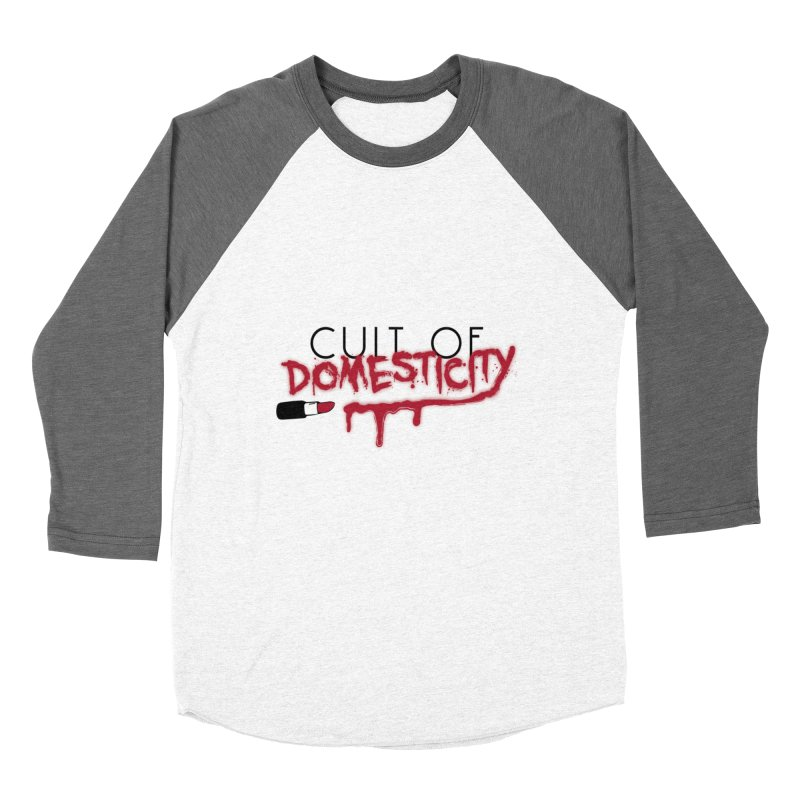 Cult of Domesticity Men's Baseball Triblend Longsleeve T-Shirt by The Cult of Domesticity Podcast
