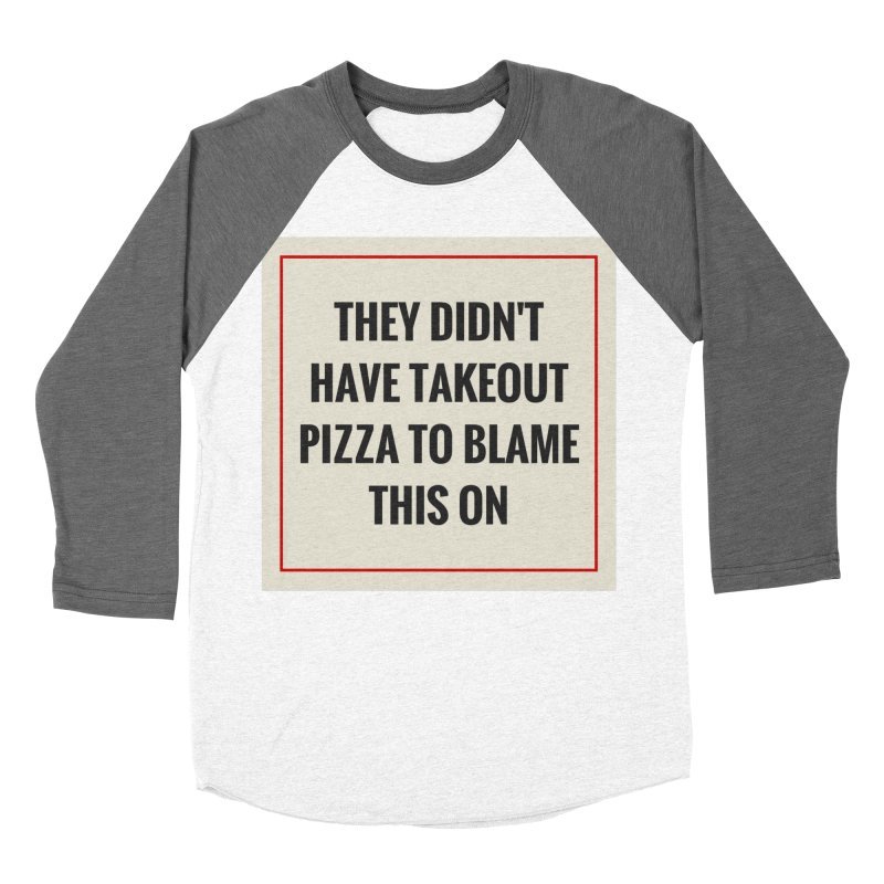 Takeout Pizza Men's Baseball Triblend Longsleeve T-Shirt by The Cult of Domesticity Podcast