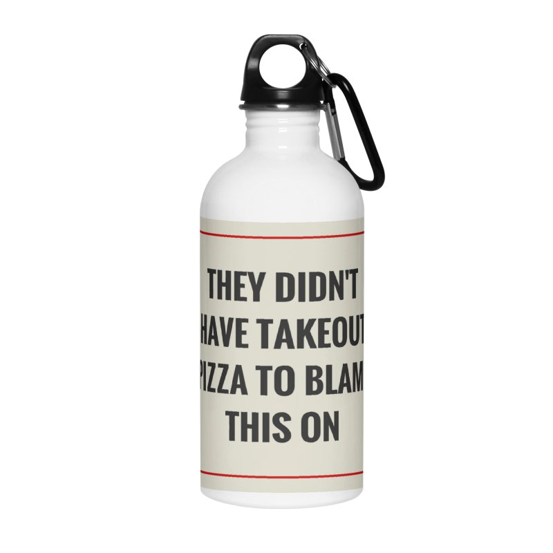Takeout Pizza Accessories Water Bottle by The Cult of Domesticity Podcast