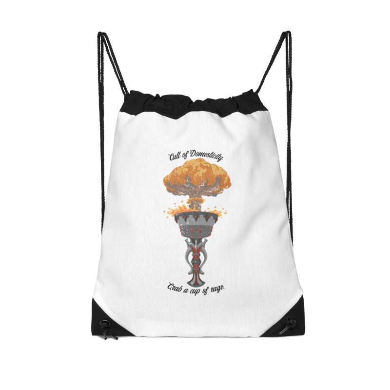 Cup of Rage Accessories Drawstring Bag Bag by The Cult of Domesticity Podcast