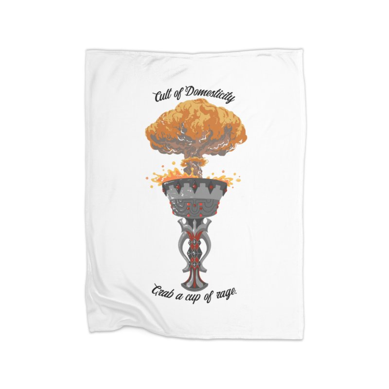 Cup of Rage Home Fleece Blanket Blanket by The Cult of Domesticity Podcast