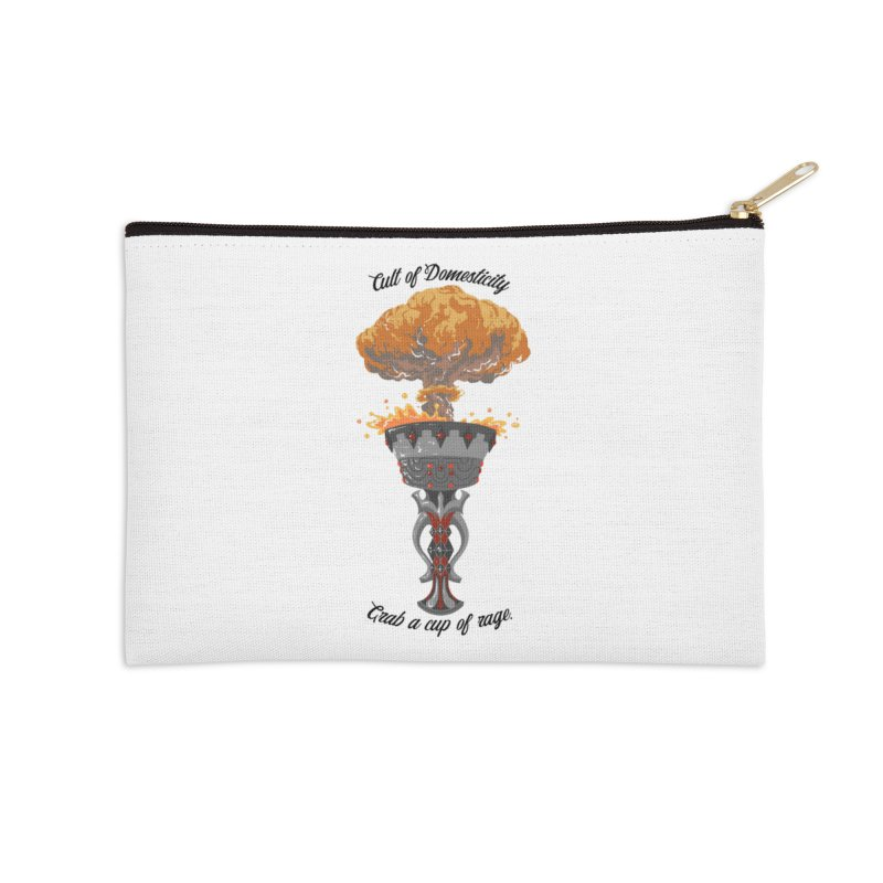 Cup of Rage Accessories Zip Pouch by The Cult of Domesticity Podcast