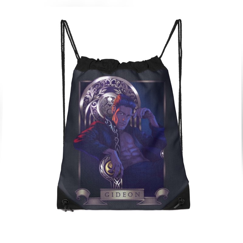 Gideon ~ The Nine While Nine Legacy Accessories Drawstring Bag Bag by The Dark Whimsy Emporium