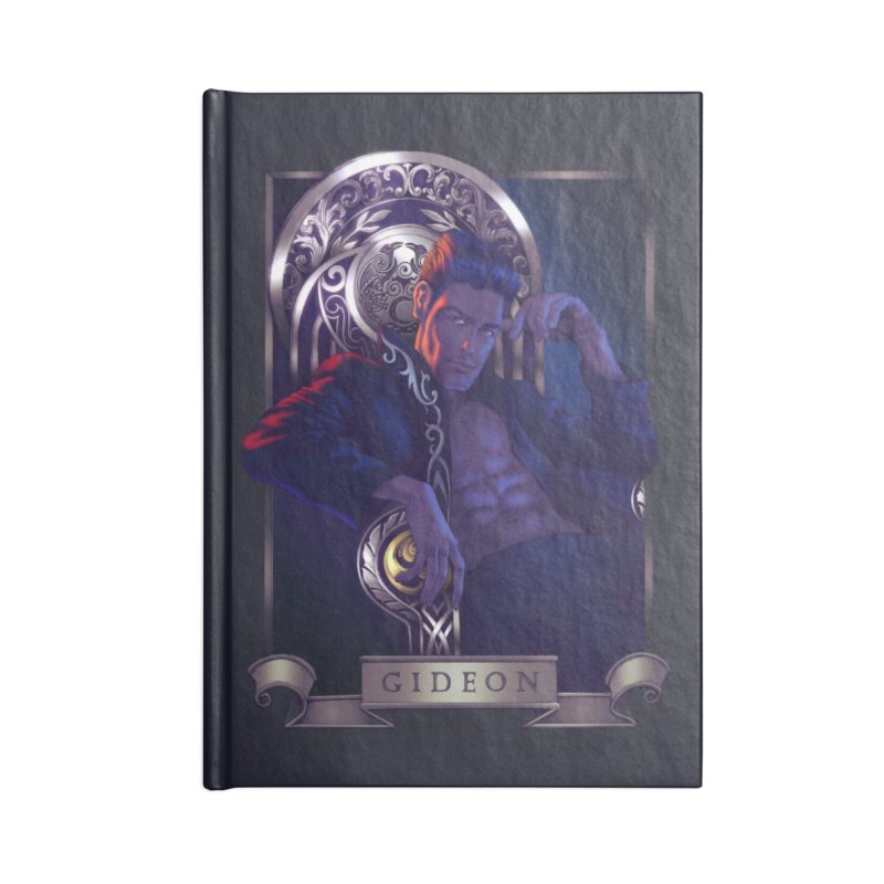 Gideon ~ The Nine While Nine Legacy Accessories Lined Journal Notebook by The Dark Whimsy Emporium