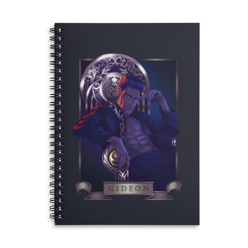 Gideon ~ The Nine While Nine Legacy Accessories Lined Spiral Notebook by The Dark Whimsy Emporium