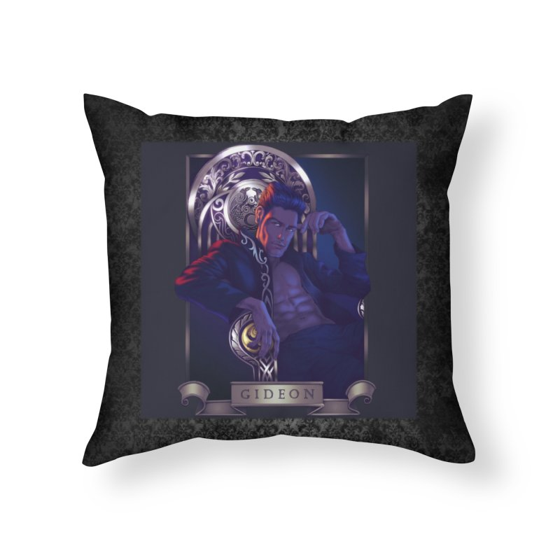 Gideon ~ The Nine While Nine Legacy Home Throw Pillow by The Dark Whimsy Emporium