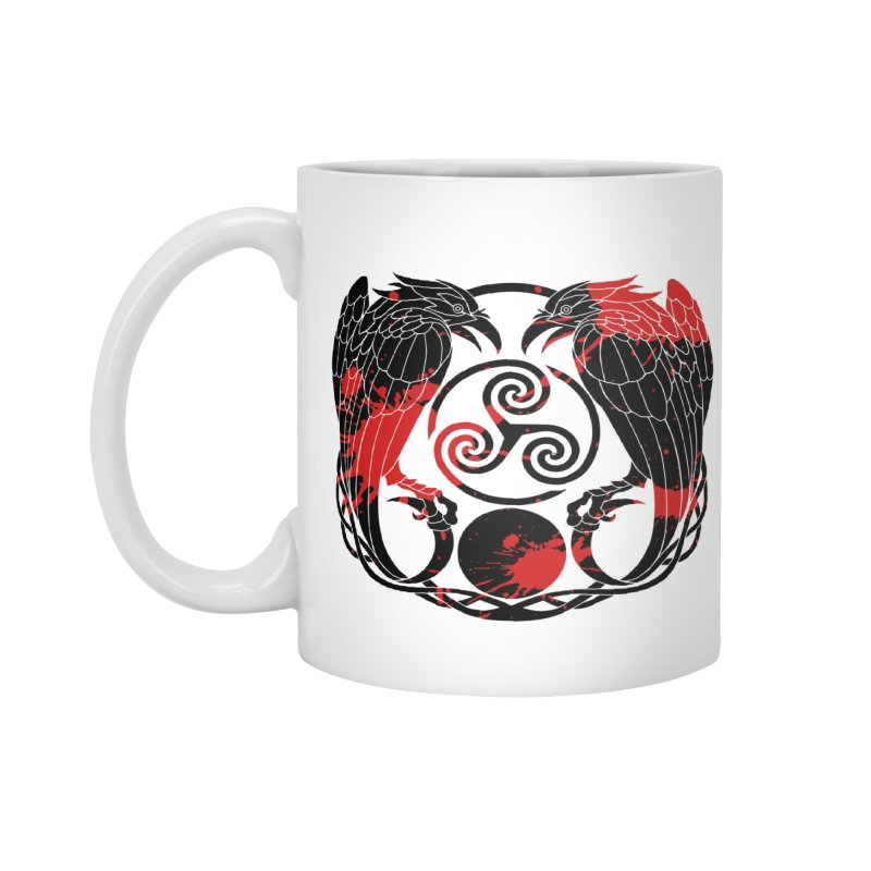 Nine While Nine ~ Blood Ravens Logo Accessories Mug by The Dark Whimsy Emporium
