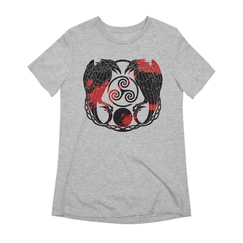 Nine While Nine ~ Blood Ravens Logo Women's Extra Soft T-Shirt by The Dark Whimsy Emporium