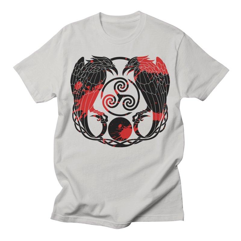 Nine While Nine ~ Blood Ravens Logo Men's T-Shirt by The Dark Whimsy Emporium