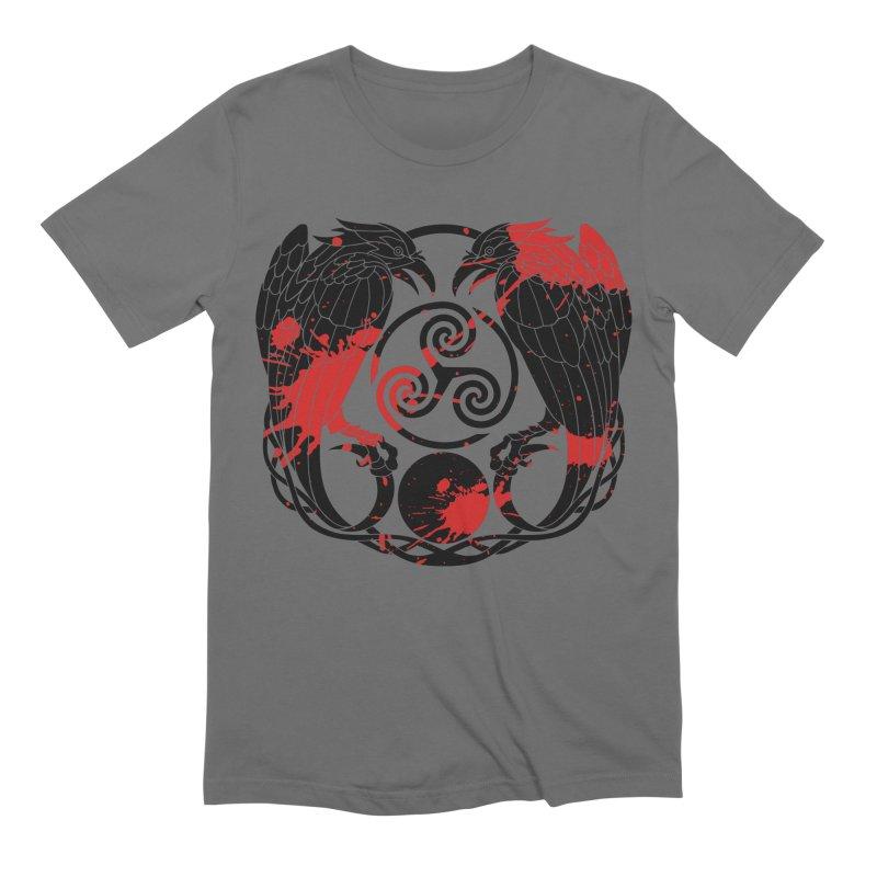 Nine While Nine ~ Blood Ravens Logo Men's Extra Soft T-Shirt by The Dark Whimsy Emporium