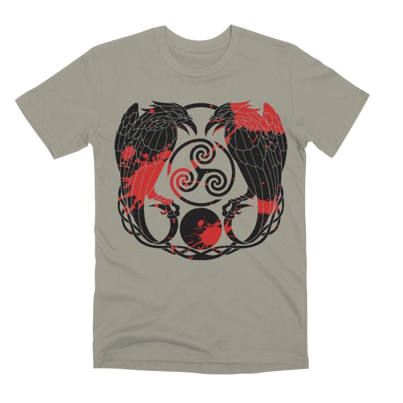 Nine While Nine ~ Blood Ravens Logo Men's Premium T-Shirt by The Dark Whimsy Emporium