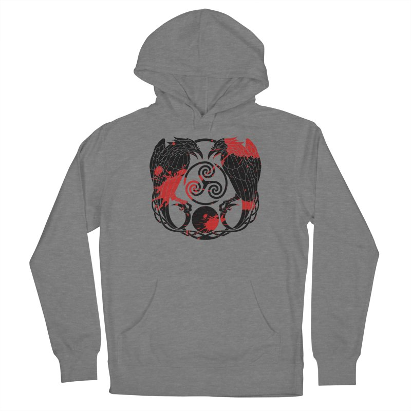 Nine While Nine ~ Blood Ravens Logo Men's French Terry Pullover Hoody by The Dark Whimsy Emporium