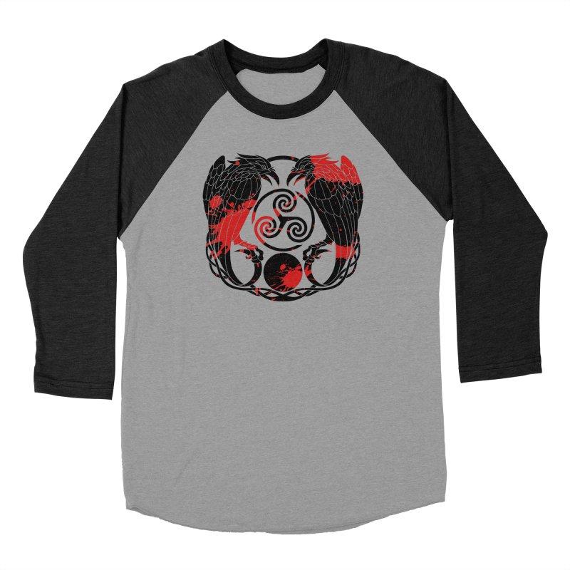 Nine While Nine ~ Blood Ravens Logo Women's Baseball Triblend Longsleeve T-Shirt by The Dark Whimsy Emporium