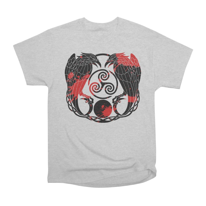 Nine While Nine ~ Blood Ravens Logo Women's Heavyweight Unisex T-Shirt by The Dark Whimsy Emporium