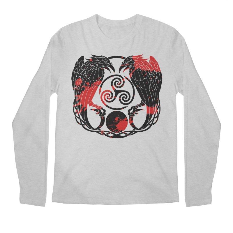 Nine While Nine ~ Blood Ravens Logo Men's Longsleeve T-Shirt by The Dark Whimsy Emporium