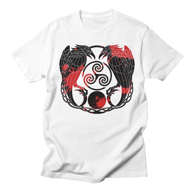 Nine While Nine ~ Blood Ravens Logo Women's Regular Unisex T-Shirt by The Dark Whimsy Emporium