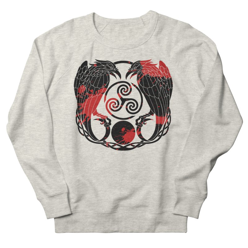 Nine While Nine ~ Blood Ravens Logo Women's French Terry Sweatshirt by The Dark Whimsy Emporium