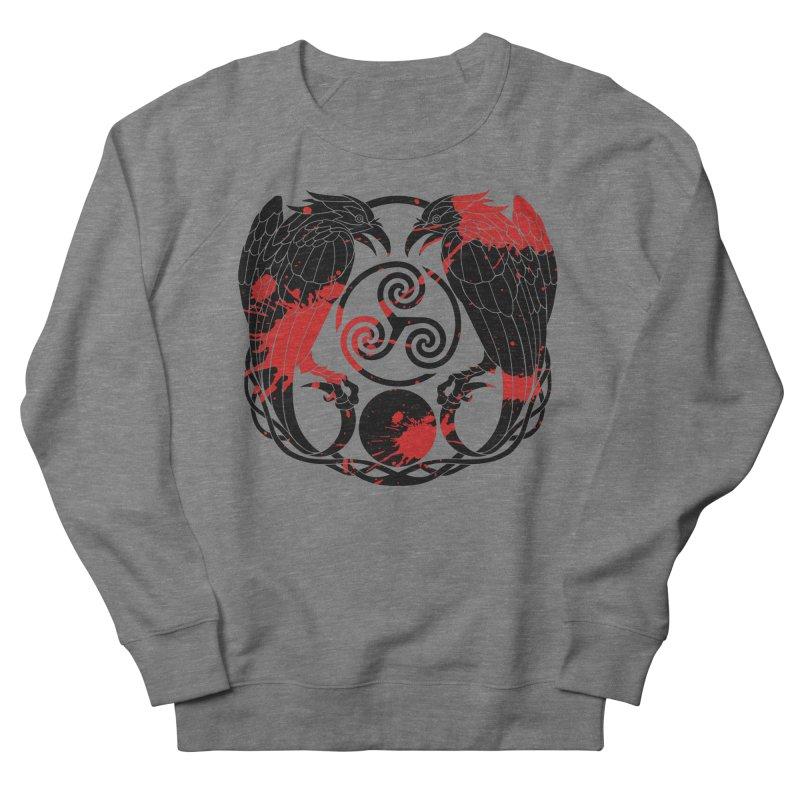 Nine While Nine ~ Blood Ravens Logo Men's French Terry Sweatshirt by The Dark Whimsy Emporium