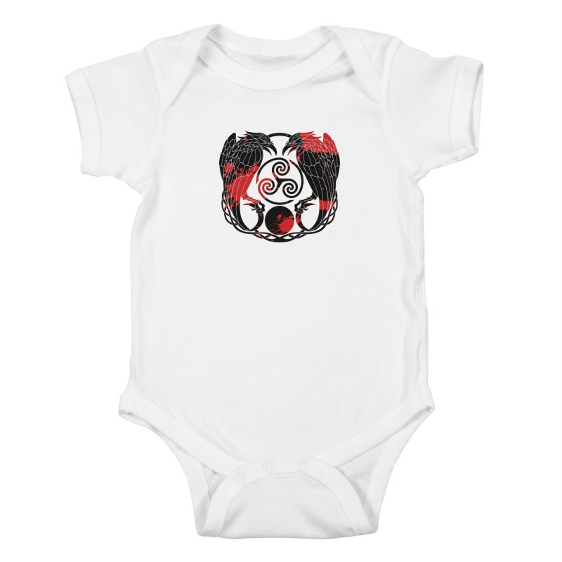 Nine While Nine ~ Blood Ravens Logo Kids Baby Bodysuit by The Dark Whimsy Emporium