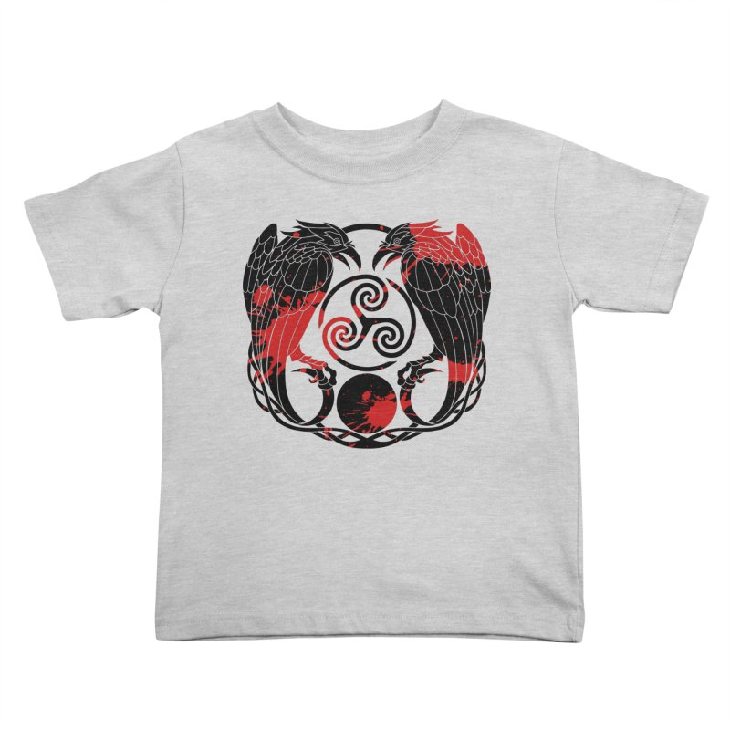 Nine While Nine ~ Blood Ravens Logo Kids Toddler T-Shirt by The Dark Whimsy Emporium
