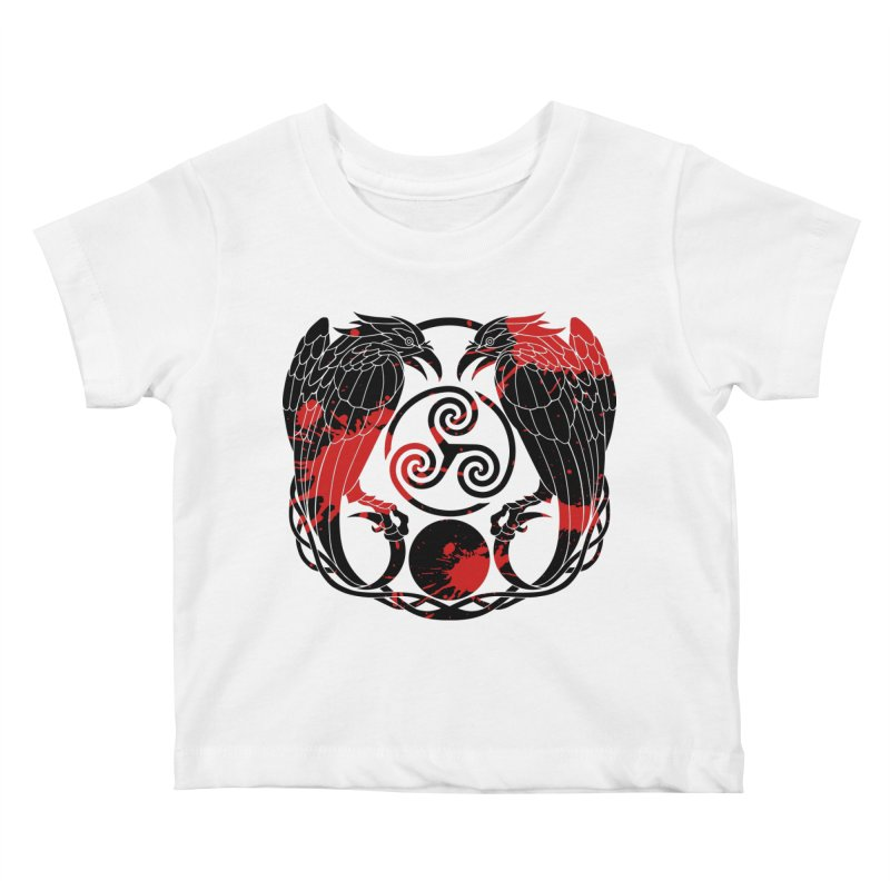 Nine While Nine ~ Blood Ravens Logo Kids Baby T-Shirt by The Dark Whimsy Emporium