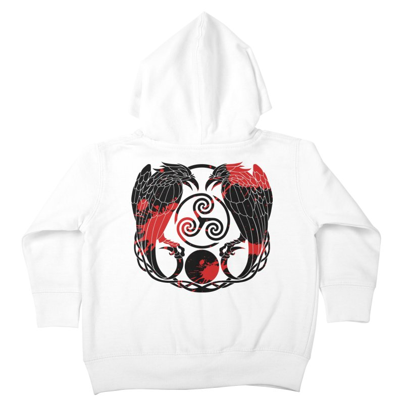 Nine While Nine ~ Blood Ravens Logo Kids Toddler Zip-Up Hoody by The Dark Whimsy Emporium