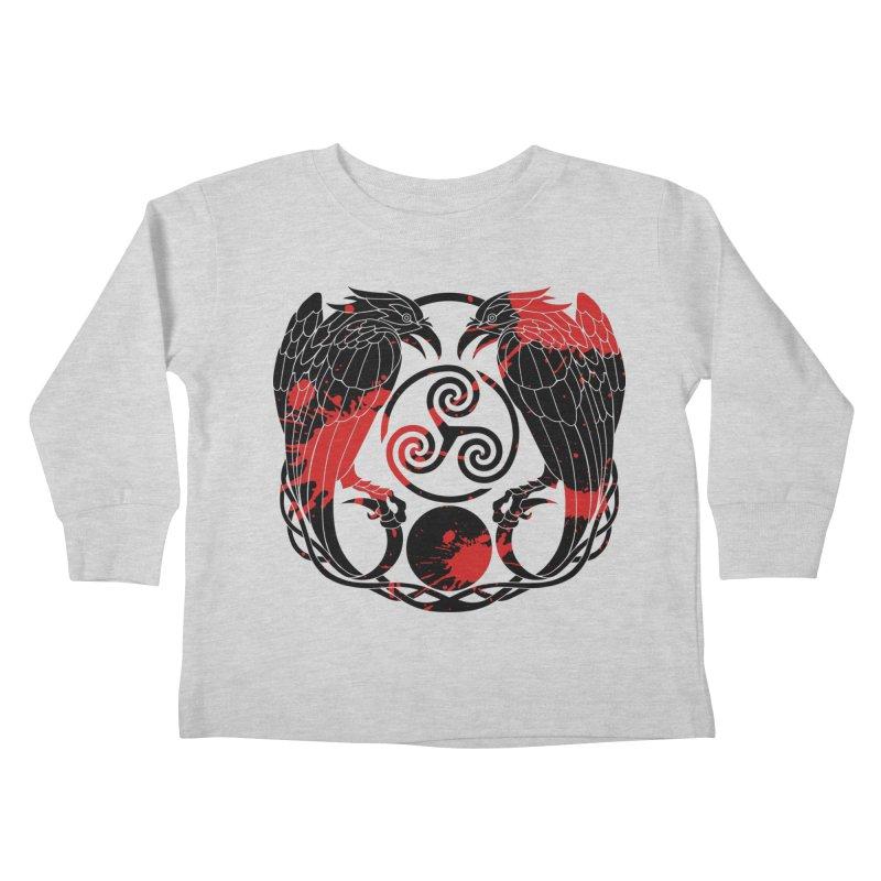 Nine While Nine ~ Blood Ravens Logo Kids Toddler Longsleeve T-Shirt by The Dark Whimsy Emporium