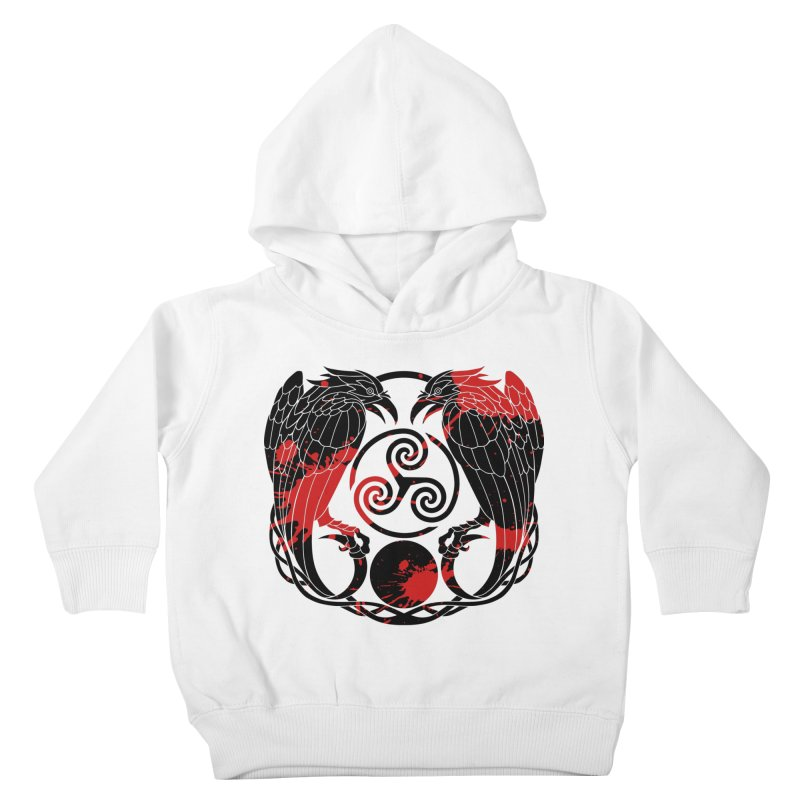 Nine While Nine ~ Blood Ravens Logo Kids Toddler Pullover Hoody by The Dark Whimsy Emporium
