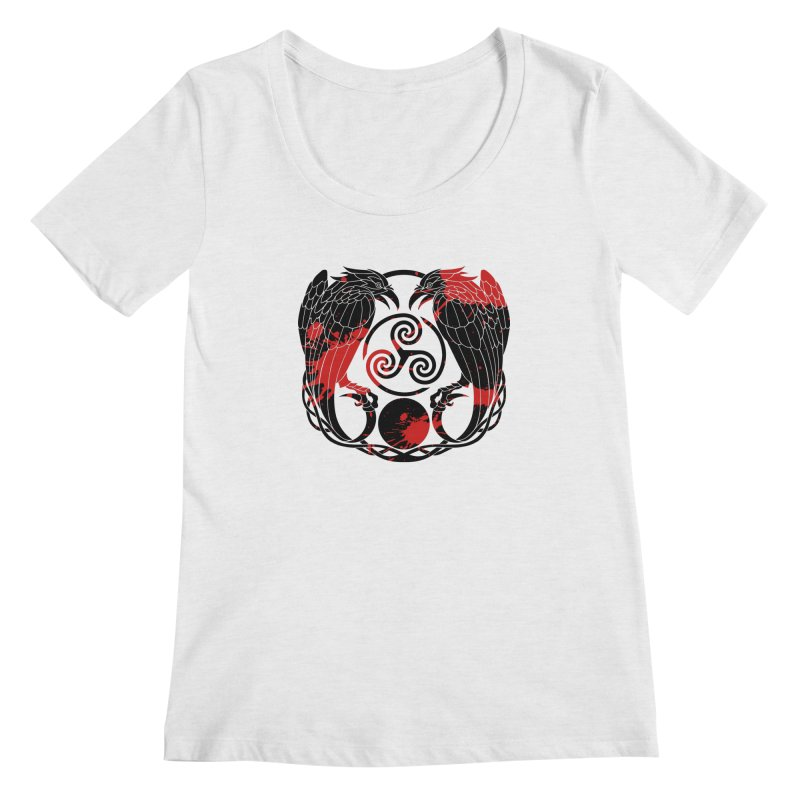 Nine While Nine ~ Blood Ravens Logo Women's Regular Scoop Neck by The Dark Whimsy Emporium