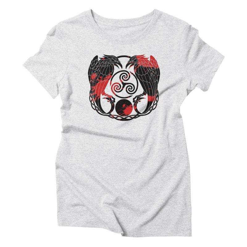 Nine While Nine ~ Blood Ravens Logo Women's T-Shirt by The Dark Whimsy Emporium