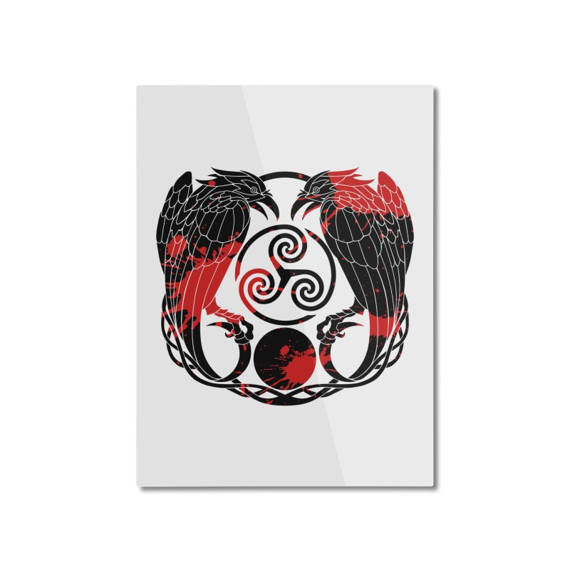 Nine While Nine ~ Blood Ravens Logo Home Mounted Aluminum Print by The Dark Whimsy Emporium