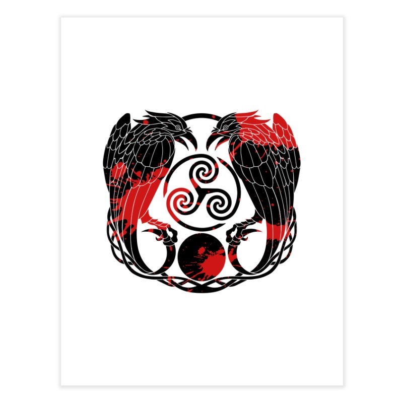 Nine While Nine ~ Blood Ravens Logo Home Fine Art Print by The Dark Whimsy Emporium