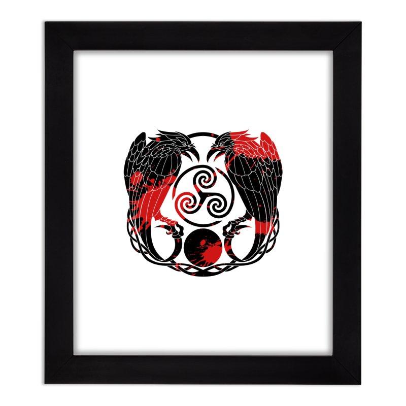 Nine While Nine ~ Blood Ravens Logo Home Framed Fine Art Print by The Dark Whimsy Emporium