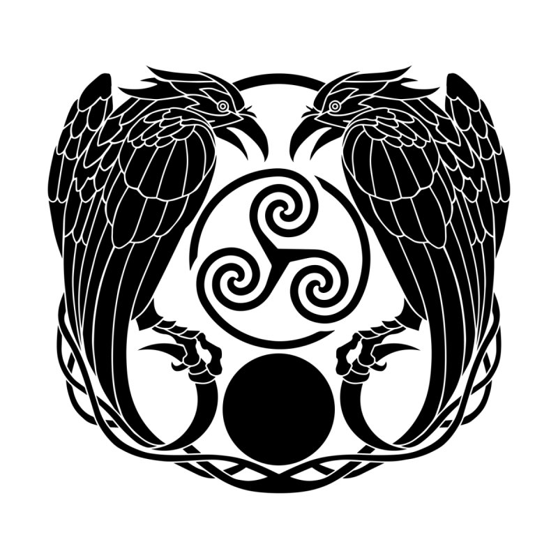 Nine While Nine Logo ~ Ravens Triskele by TheDarkWhimsy's Artist Shop
