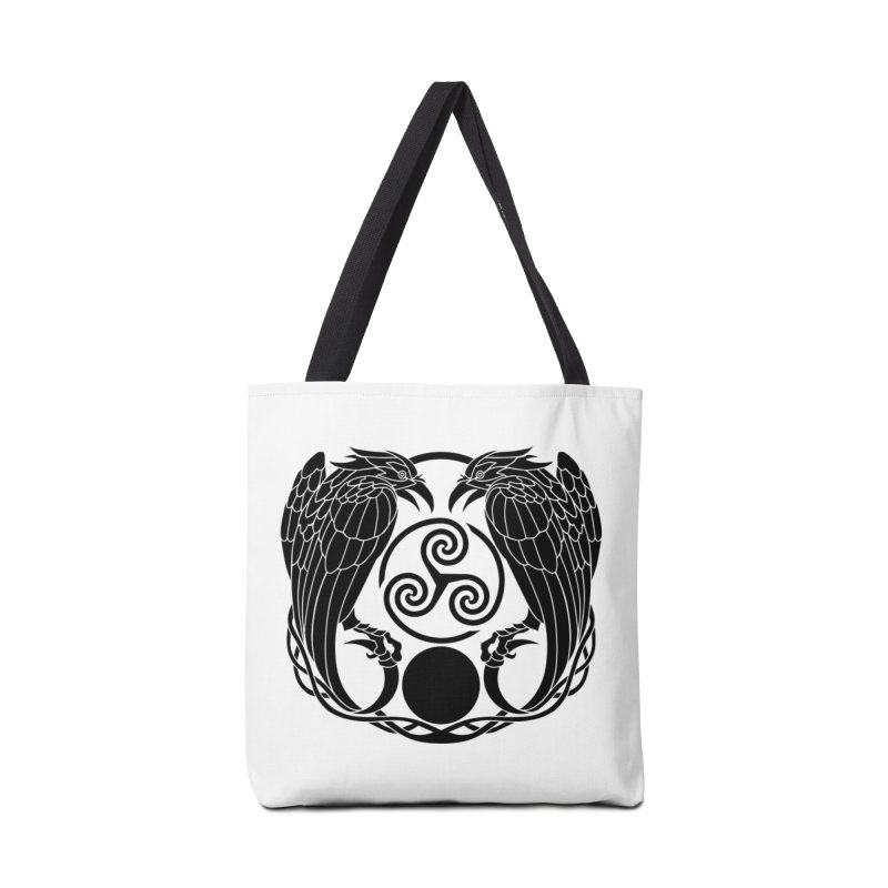 Nine While Nine ~ Black Ravens Logo Accessories Bag by The Dark Whimsy Emporium