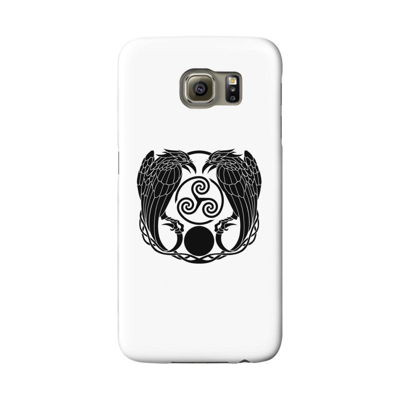 Nine While Nine ~ Black Ravens Logo Accessories Phone Case by The Dark Whimsy Emporium