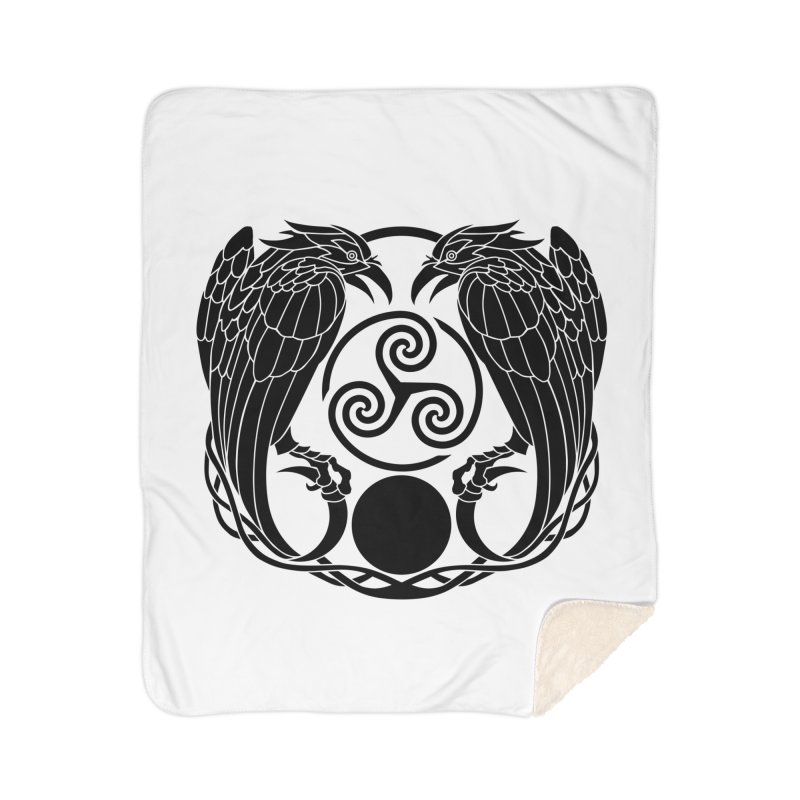 Nine While Nine ~ Black Ravens Logo Home Sherpa Blanket Blanket by The Dark Whimsy Emporium