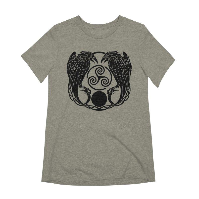 Nine While Nine ~ Black Ravens Logo Women's Extra Soft T-Shirt by The Dark Whimsy Emporium