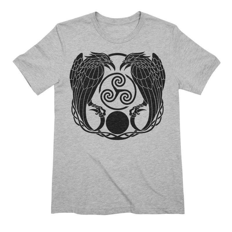 Nine While Nine ~ Black Ravens Logo Men's Extra Soft T-Shirt by The Dark Whimsy Emporium