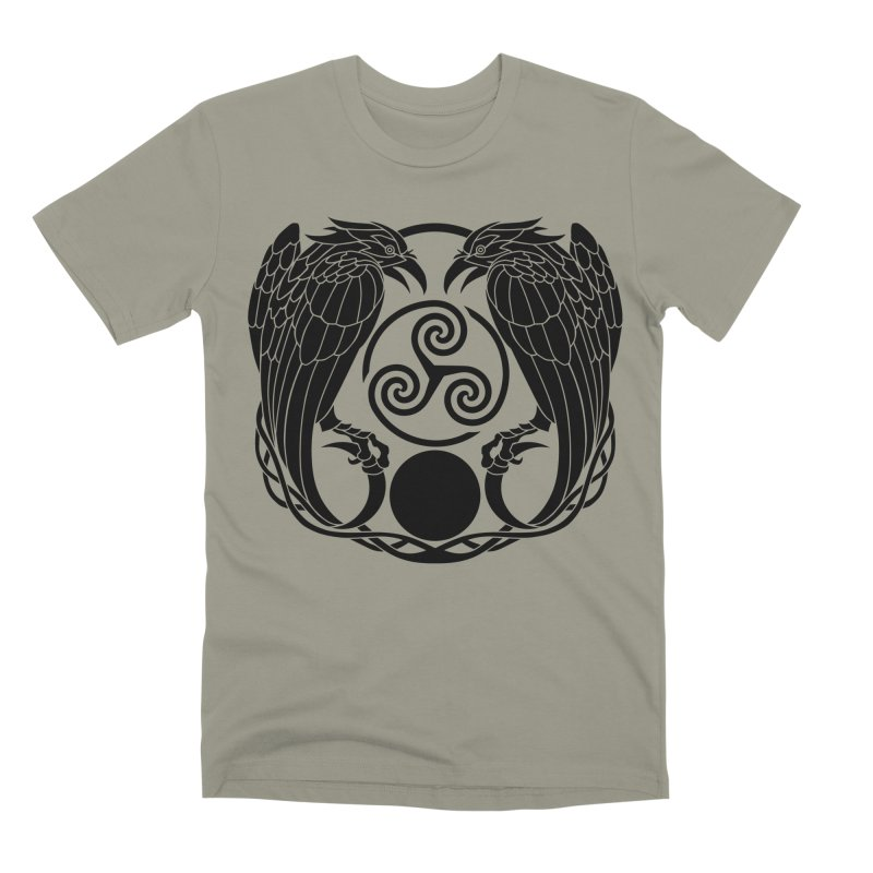 Nine While Nine ~ Black Ravens Logo Men's Premium T-Shirt by The Dark Whimsy Emporium