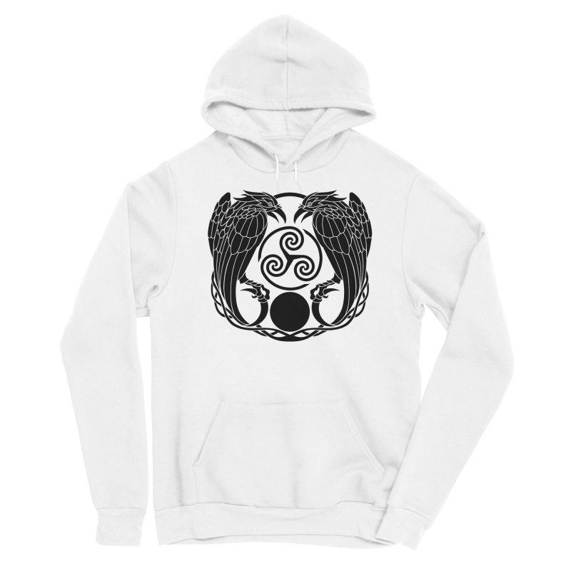 Nine While Nine ~ Black Ravens Logo Men's Sponge Fleece Pullover Hoody by The Dark Whimsy Emporium